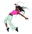 Funny breakdancer vector image
