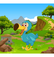 funny dodo bird cartoon in the jungle vector image vector image