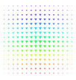 futuristic man shape halftone spectral grid vector image vector image