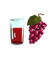grape juice glass of natural vegetarian drink vector image vector image