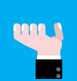 hand asking isolated finger of businessman vector image