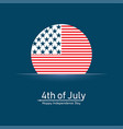 happy independence day united states 4th july vector image vector image