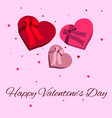 happy valentine day postcard wishes vector image