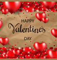 happy valentines day border cardboard background vector image vector image