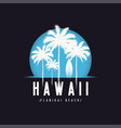 hawaii lanikai beach tee print with palm trees t vector image vector image