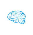 health brain icon vector image