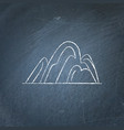 hill icon on chalkboard vector image vector image