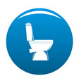 home toilet icon blue vector image vector image
