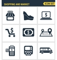 Icons set premium quality of shopping symbol shop vector image