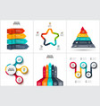 infographic set with circles arrows pyramid and vector image vector image