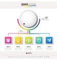 infographics design template with icons set vector image