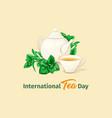 international tea day poster herbal tea vector image