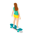 isometric skateboard or longboard isolated on vector image