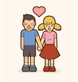 little boy and girl holding handscouple love vector image vector image
