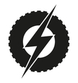 Logotype round wheel with lightning Eco electric vector image vector image