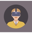 Man in the virtual reality headset vector image vector image