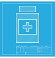 Medical container sign White section of icon on vector image vector image