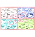military camouflage patterns set Hand vector image vector image