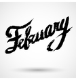 Modern calligraphy pen lettering February vector image vector image
