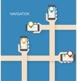 Navigation app vector image vector image