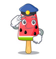 police summer watermelon the ice shaped cartoon vector image vector image