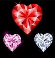 precious stones in heart shape vector image vector image