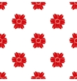 Red flower seamless pattern 2 vector image vector image