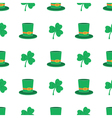 Seamless pattern with saint patricks day icons vector image