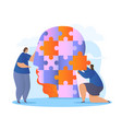 self healing recovery mental medical treatment vector image vector image