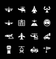 Set icons of aviation vector image vector image