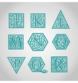 Set of Logo designs Artistically Drawn Stylized vector image vector image