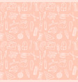 sewing seamless pattern background vector image