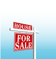 Sign of house for sale vector image