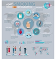 Smoking Infographics Set vector image vector image