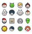 social characters vector image vector image