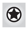 star in circle icon vector image vector image