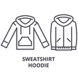sweatshirt hoodie line icon outline sign linear vector image vector image