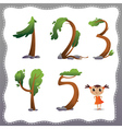 Tree number on white background vector image vector image