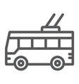 trolleybus line icon transport and public vector image vector image