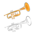 Trumpet set isolated on white vector | Price: 1 Credit (USD $1)