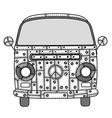 van in Tangle Patterns style vector image vector image