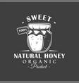 vintage honey label vector image