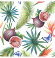 watercolor seamless pattern figs and vector image