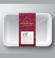 worlds best beef abstract plastic tray vector image vector image