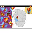 cartoon balloon jigsaw puzzle game vector image