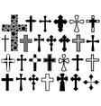 Set of different crosses vector image
