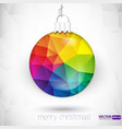 Triangle Christmas decorations background vector image
