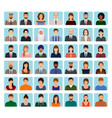 avatars characters set of different people vector image
