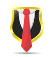 Guard Suit Lawyer Shield Protect vector image