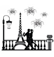 Romantic couple dancing vector image